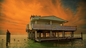 Stiltsville Orange Sunrise
