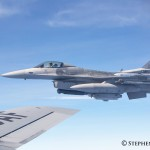 F-16 MAKO on wing of KC-135
